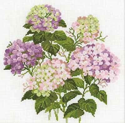 Garden Hydrangea Cross Stitch Kit By Riolis