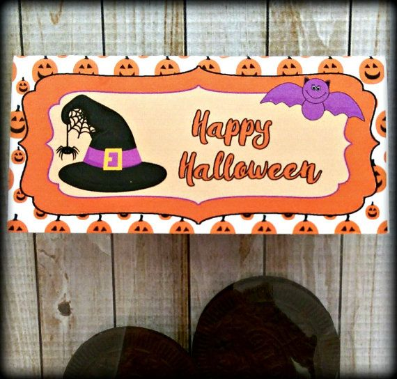 halloween treat bag toppers cookie bag toppers pumpkins instant download - Pictures That Say Happy Halloween