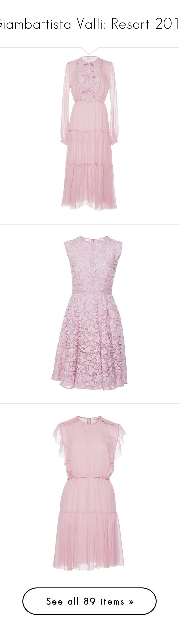 """Giambattista Valli: Resort 2018"" by livnd ❤ liked on Polyvore featuring GiambattistaValli, livndfashion, livndgiambattistavalli, resort2018, dresses, pink, giambattista valli dress, pink bow dress, pink silk dress and full length dresses"