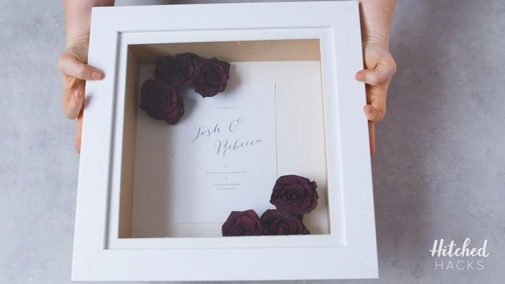 Erhalten Sie Ihren Hochzeitsstrauß: So trocknen und rahmen Sie Ihre Blumen