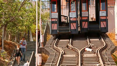 """Angels Flight, Los Angeles' beleaguered landmark, has reopened after years of inactivity. The funicular, or cable railway built on an incline, has a storied past. It has moved locations, closed after accidents and was recently featured in the film """"La La Land."""""""