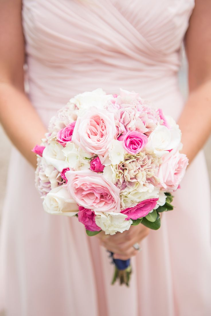 Pink #Bouquet | See this summer wedding on #SMP Weddings ~ http://www.stylemepretty.com/canada-weddings/ontario/2013/12/13/lake-house-wedding/  Young Hearts Photography