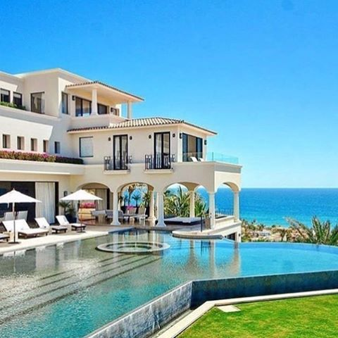Beautiful beachfront mansion with pool.