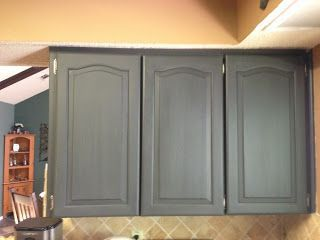 Using Chalk Paint to Refinish Kitchen Cabinets -- detailed how-to and how-not-to; using deck sealer for the top coat.
