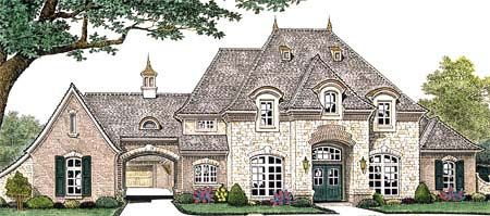 House Plan 66235 | French Country Plan with 3769 Sq. Ft., 4 Bedrooms, 5 Bathrooms, 3 Car Garage