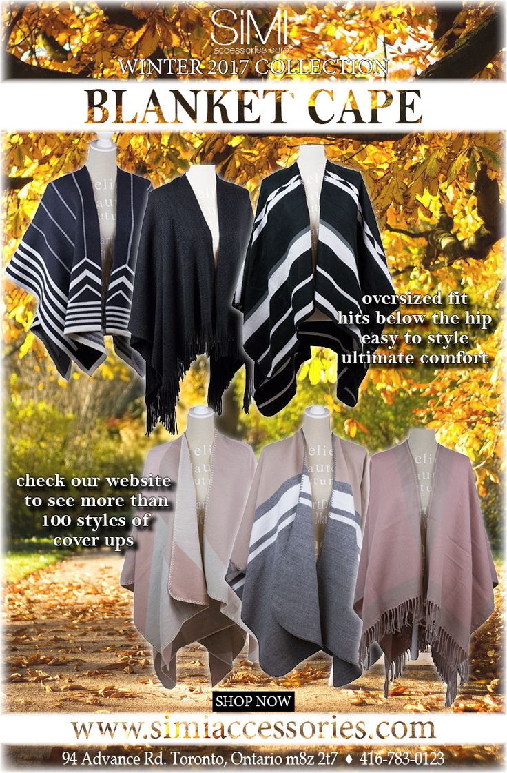 Variety of wholesale fashion capes, wholesale winter ponchos, wholesale ruanas, wholesale cardigans,  wholesale sweaters and vests for Canada, USA and worldwide here!