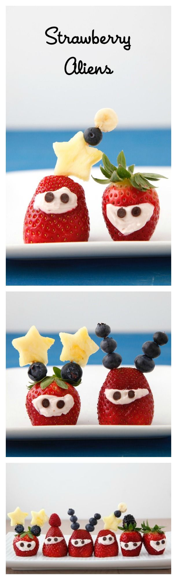 #Strawberry #Aliens are a super fun #snack to make with kids!