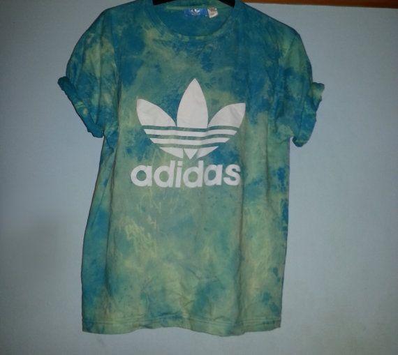 90s tie dye adidas seapunk grunge retro sports top by DalixStudios, £25.00