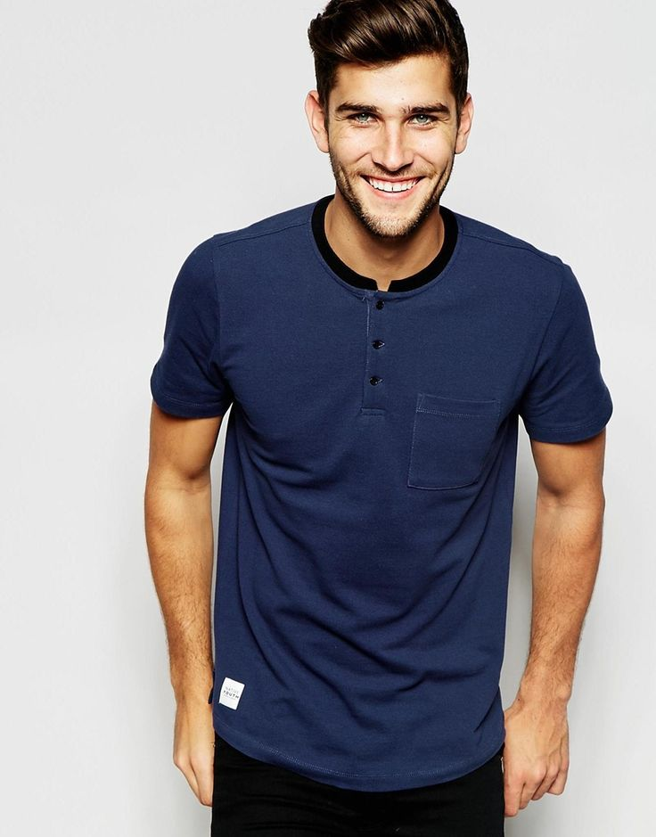 Image 1 of Native Youth Grandad Neck Pique Polo Shirt