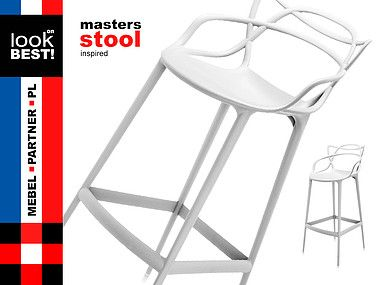INSP DESIGN MASTERS STOOL WHITE BY P. STARCK 345zl