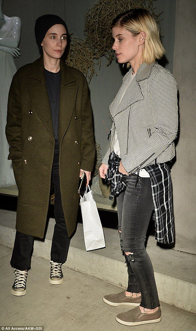 Sisters: Successful actresses Rooney and Kate Mara grabbed a bite to each together Monday night at a vegan restaurant in West Hollywood