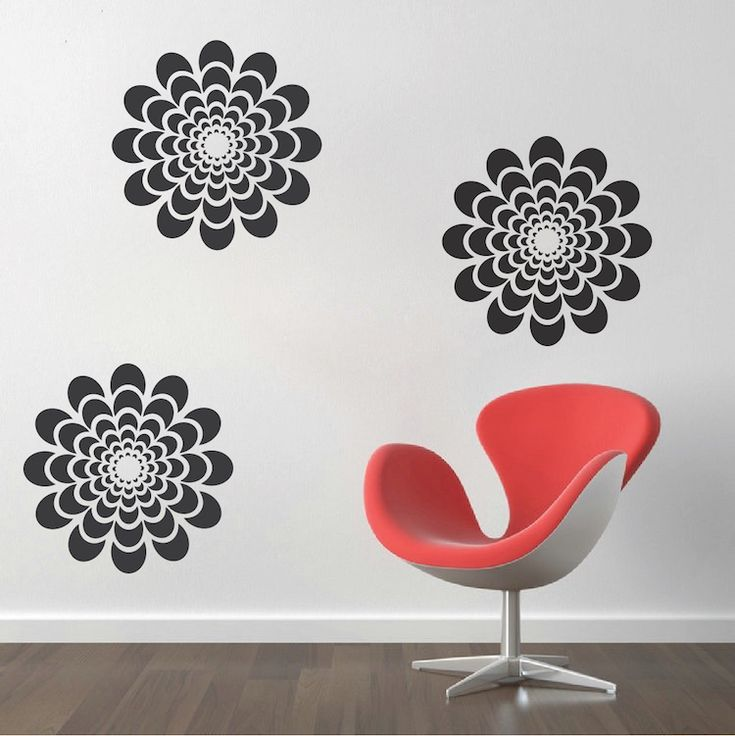 flower wall decal - Wall Vinyl Designs