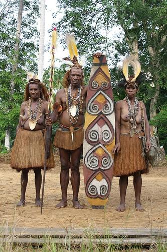Portrait of people in Papua
