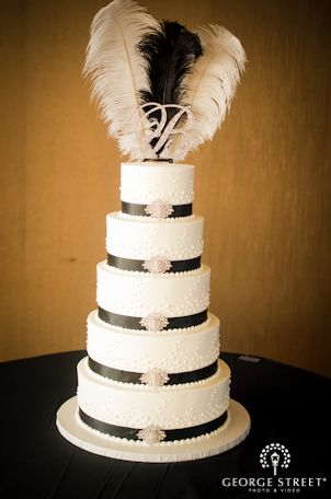 A touch of the 1920's...Obsessed! #WeddingInspiration #WeddingCakes http://go.georgestreetphoto.com/l/9752/2012-10-18/8q7b2