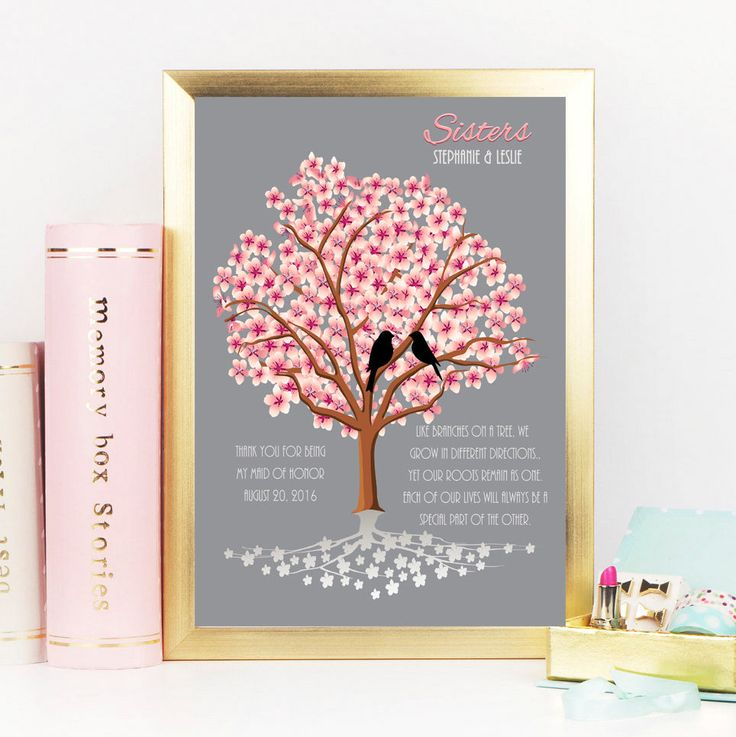 Wedding Gift Ideas For Bride From Sister : Sisters, Maid of Honor Gift from Sister, Wedding gift Art Print ...