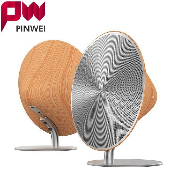 PINWEI Wooden Bluetooth Wood Coat Wireless Bluetooth Surround Sound Speaker