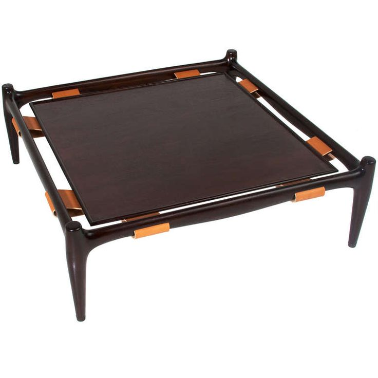 Vintage California Craftsman leather & Mahogany Coffee Table | From a unique collection of antique and modern coffee and cocktail tables at http://www.1stdibs.com/furniture/tables/coffee-tables-cocktail-tables/