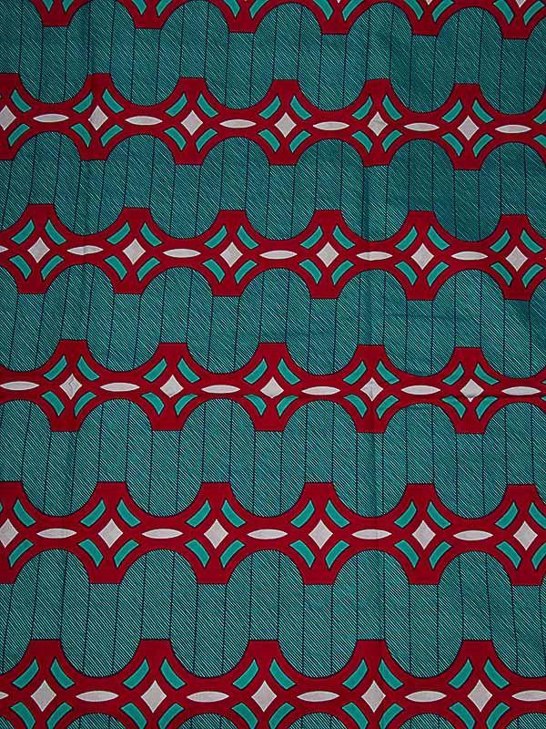 Pagne africain ciré tissu imprimé motif géométrique bon marché rw3258908
