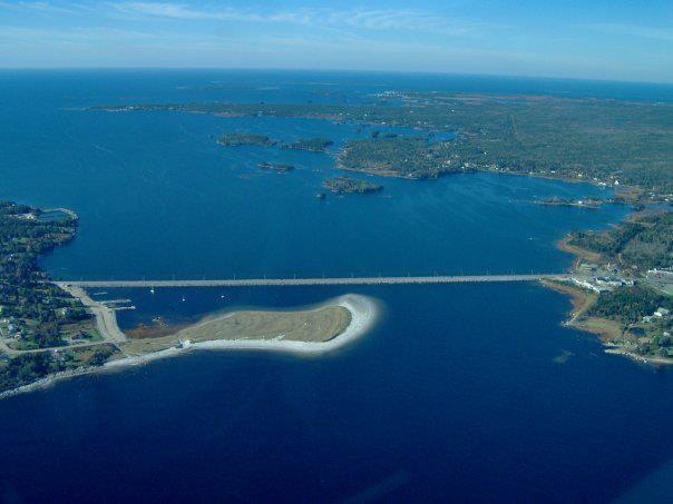 Causeway connecting Barrington and Cape Sable Island, Nova Scotia
