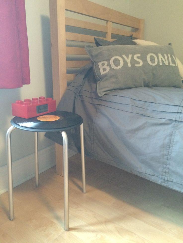 décoration, chambre de garçon, enfants, Le Canadien de Montréal, Le hockey et la musique, diy, trucs, astuces déco
