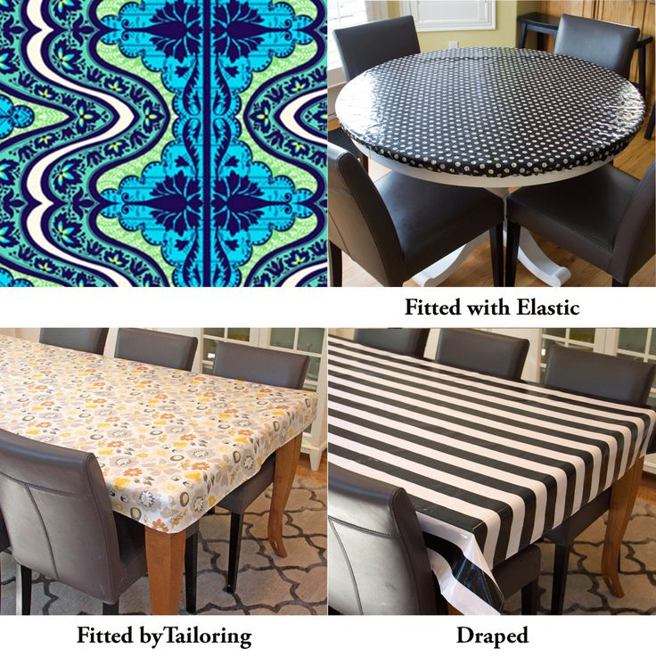 Laminated Cotton Aka Oilcloth Tablecloth Custom Size And Fit Choose  Elastic, Tailored, Or Draped