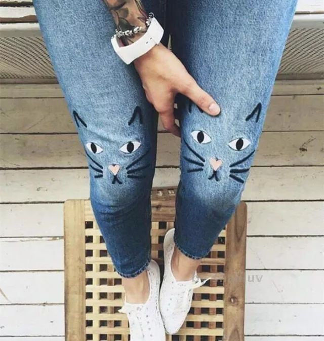 Купить Магазин элины 2016 женщина kimomo MONKI кошка вышивка джинсовые тощие брюки джинсы femme высокие джинсы талии haute taille pantalon брюкии другие товары категории Джинсыв магазине Elina's ShopнаAliExpress. брюки девушки и брюки свадебные