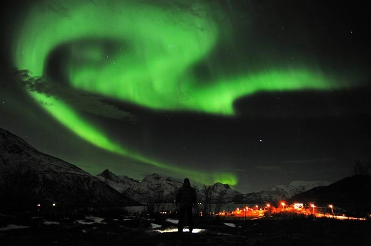 The northern lights are seen near the city of Tromsoe in northern Norway late Tuedsay.  Isn't this beautiful!