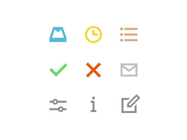 Amidst an updated iPhone app (shipping soon), new Android app, and upcoming Mac app, we took the opportunity to update Mailbox's iconic in-app icons. The previous set didn't have a consistent visua...