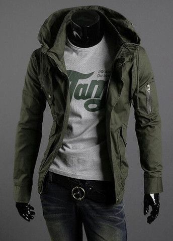 Simple Zipper Fly Hooded Coat for Man – teeteecee - fashion in style