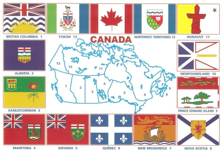 canadian flags provinces