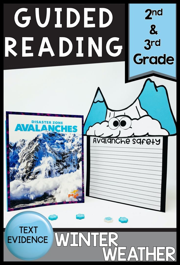 Avalanche Guided Reading Text Evidence Activities Text Evidence Activities Text Evidence Guided Reading Guided reading activities for winter