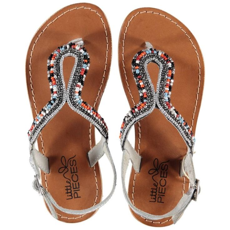 Little Pieces lederen sandalen Ibiza Boho multicolor - real leather- €  29,95 www.RoosEnTijn.nl
