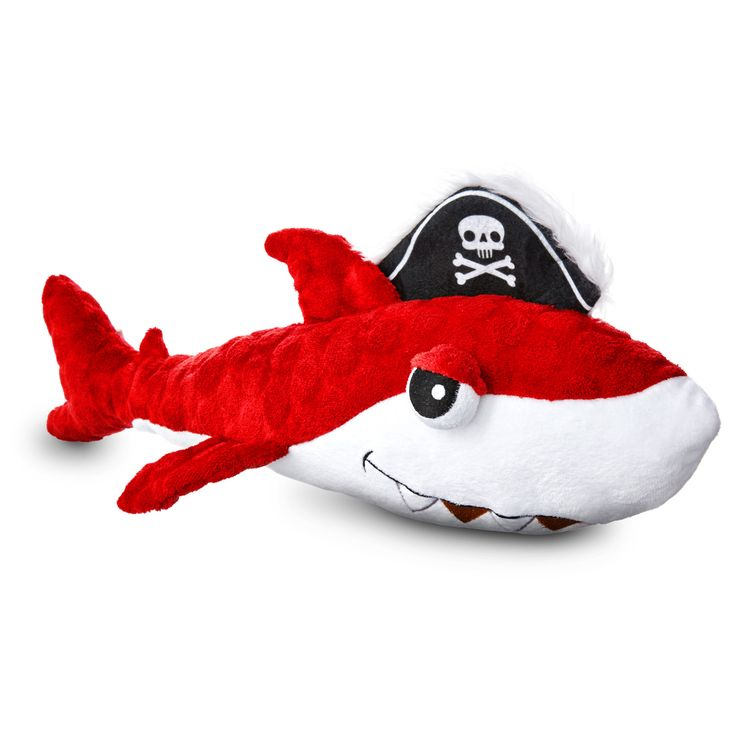 Leaps & Bounds Pirate Red Shark Dog Toy
