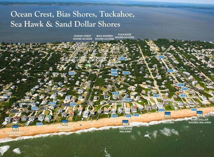 Duck Nc   Bias Shores Subdivision Aerial Map in Duck, NC