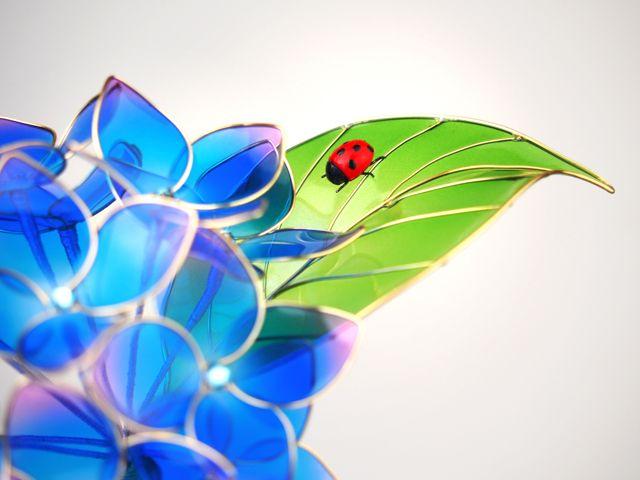 ◆紫陽花◆かんざし◆簪◆髪飾り◆ディップアート◆蒼翠◆ - ヤフオク!
