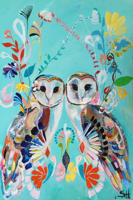 Love this! I painted it yesterday with my mom!..... 'Soul Ties' Floral Owls by Starla Michelle ♥•♥•♥