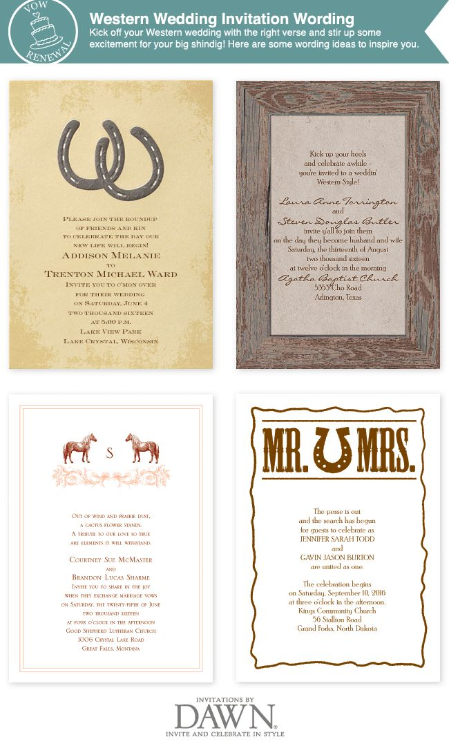 Western And Country Wedding Invitation Wording!
