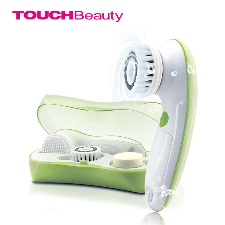3 in1 touchbeauty obracanie facial cleansing brush set z 3 wymiana końcówki do szczoteczek, 2 Ustawienia Prędkości z pojemnikiem TB-0759A