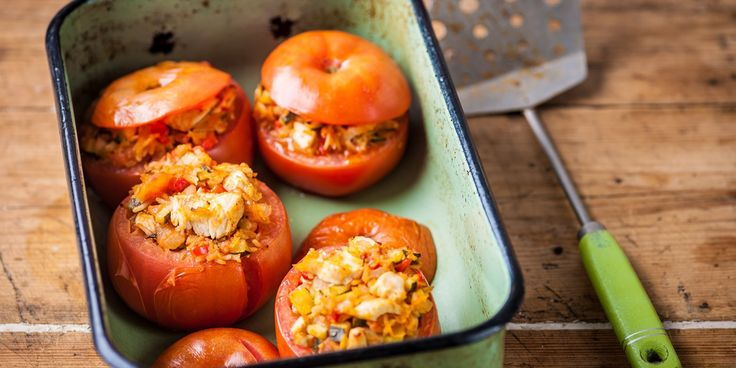 This comforting, healthy stuffed tomatoes dish by Adam Byatt is an ingenious way to use up leftover turkey meat