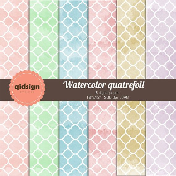 Hey, I found this really awesome Etsy listing at https://www.etsy.com/listing/190261029/watercolor-quatrefoil-digital-paper