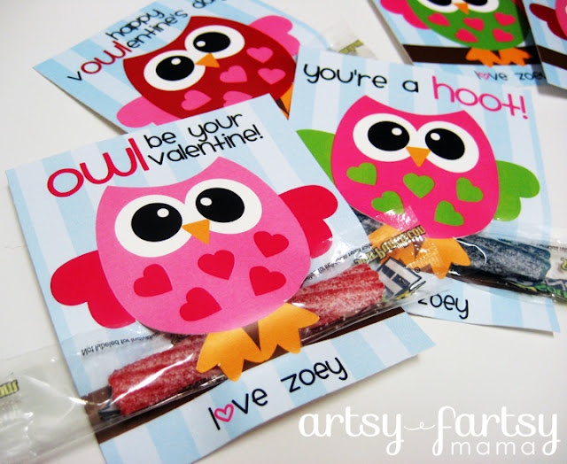 """""""owl be your valentine"""" printables"""