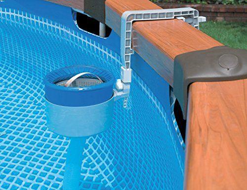 Intex Deluxe Skimmer de Surface pour Piscine Bleu 1 x 1 x 1 cm