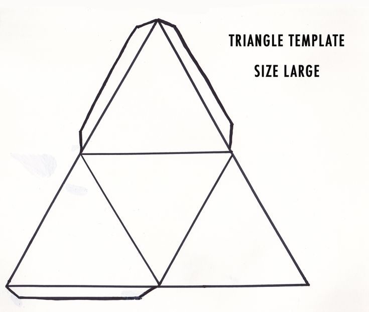 triangle template - Google zoeken
