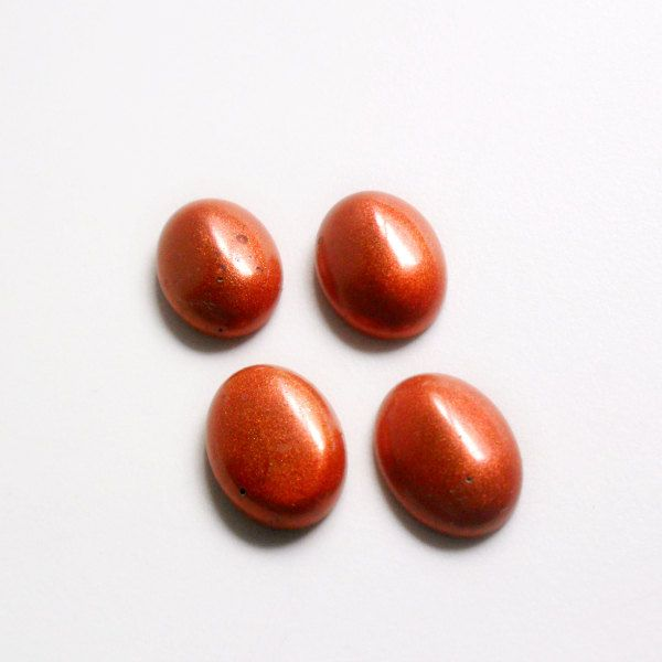 Resin Handmade Cabochon - Copper Oval  - 4 pieces - 20 x 14 mm di archidee su Etsy