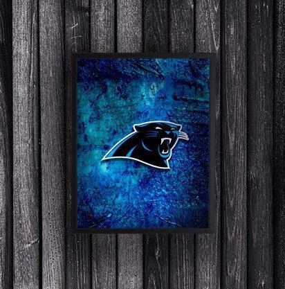 A personal favorite from my Etsy shop https://www.etsy.com/listing/253786598/carolina-panthers-art-carolina-pathers