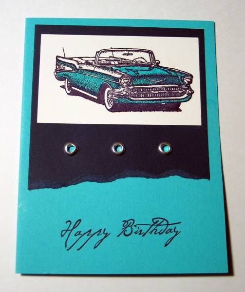 128 best card classic cars images on pinterest masculine cards another simple guy birthday card using one of my favorite su sets i colored the car with su markers the eyelets came from wish rak bookmarktalkfo Image collections
