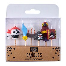 Buy Ginger Ray Pirate Themed Birthday Candles, Set of 6 Online at johnlewis.com