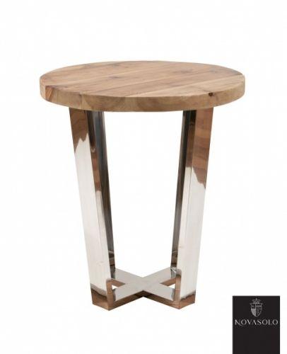 Tøft Avignon sidebord produsert i kombinasjon av et moderne understell i pusset rustfri stål og en røff og rustikk bordplate av resirkulert furu!Mål:Diameter 49 cmHøyde 56 cmMateriale:Resirkulert furuPusset rustfri stålVedlikehold:Vi anbefaler bruk avAntikvax.Pleieproduktet reduserer sprekker, smuss, forenkler renhold og tilfører en beskyttende hinne til treverket. Påføres umiddelbart.Tips, råd og annen informasjon:Bordet leveres ferdig montert. Bordplaten er produsert...