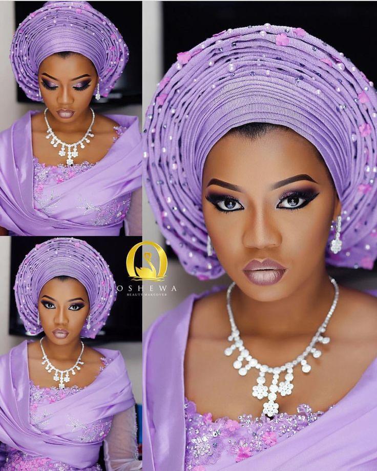 Too much ... juice! @aisha_pariya / makeup by @oshewabeauty  Aso Oke @bimmms24  #BellaNaijaWeddings