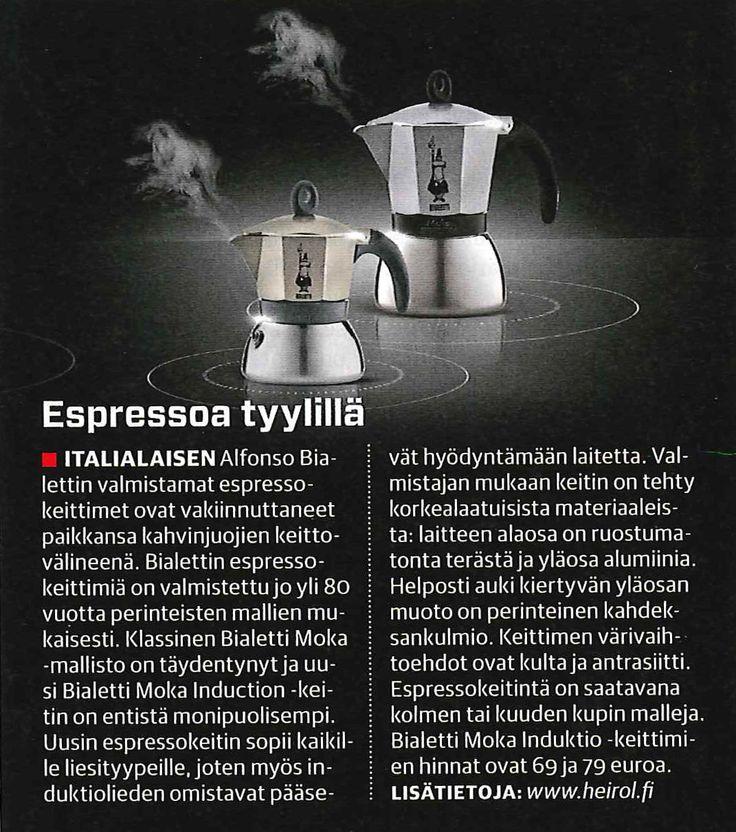 Aito ja alkuperäinen mutteripannu nyt myös induktioliedelle!   Moka Induction maahantuojan verkkokaupasta: www.heirol.fi    Artikkeli: Tekniikan Maailma 01/2015